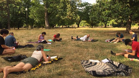 atelier corps et écriture, parc de la Tête d'Or